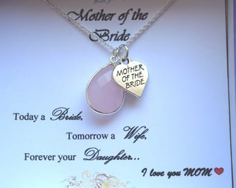 Gorgeous Mother of the Bride Necklace/ Gift for Mom(Available with different Gemstones)
