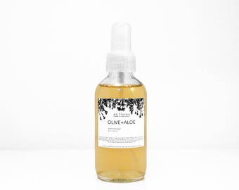 Facial Toner: OLIVE + ALOE - toning spray, face toner, improve complexion with olive extract, for sensitive or irritated skin, natural toner