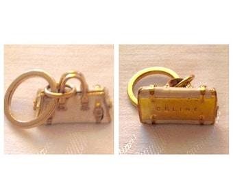 Anniversary Sale Cool Celine White Metal Purse Keychain