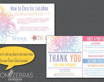 Mandala Thank You Card | Care Card |  4x6 Postcard | Free Personalization for LuLaRoe Retailers