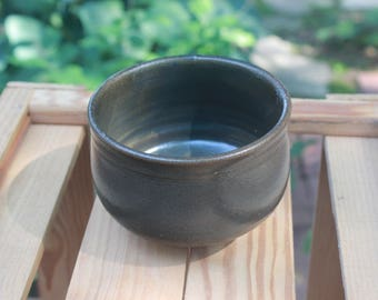 Slate Grey Pottery Soup Bowl