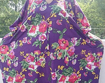 Floral Kaftan, Caftan, Kaftan,  long floral dress, For to be Moms, beach cover up, Sleepwear, Babyshower gift
