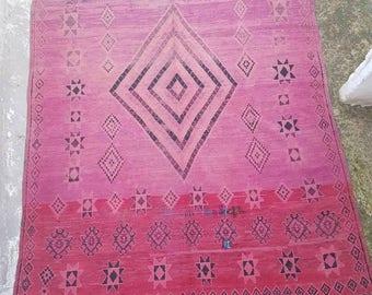 Old Boujaad Boujaad style Boho lifestyle Authentic floor rug Square Boujaad
