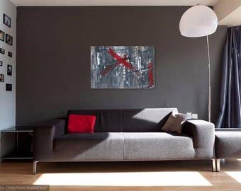 "Red X Original Painting 30""x 20"""