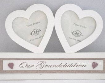 Photo Frame Our Grandchildren Picture Frame Double Hearts Frame Large  F1354B
