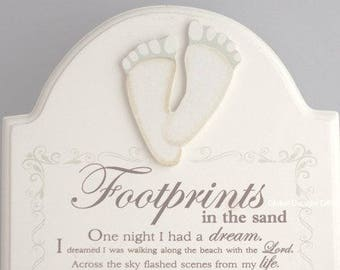 Plaque Footprints In The Sand Gift Plaque Footprints Wall Or Freestanding F1068B