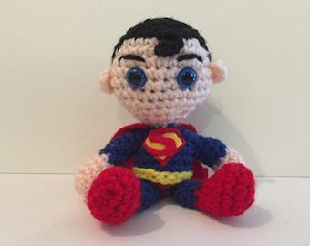 Superman Amigurumi Crochet Doll