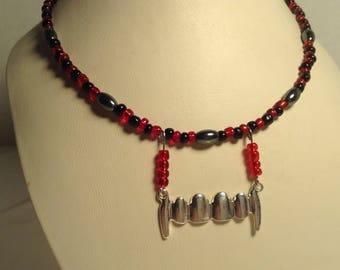 Vampire teeth necklace