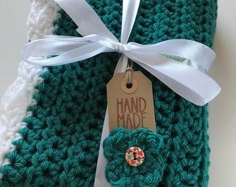 Made To Order Crochet Stroller Baby Blanket/ Chunky Blanket/ Blanket/ Baby Boy Blanket