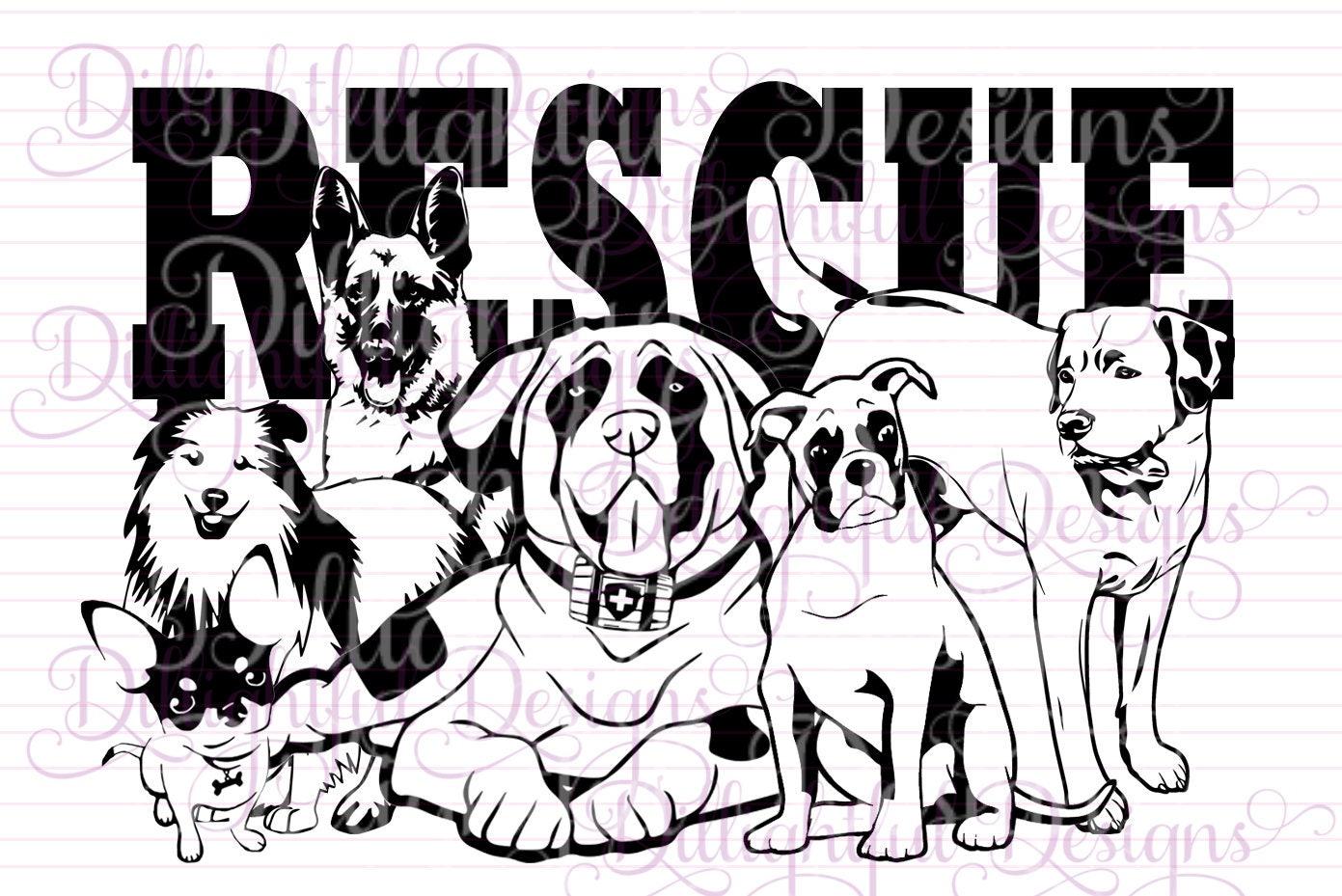 RESCUE Sheltie Animal Rescue Pet Adoption Adopt a DOG svg Decal