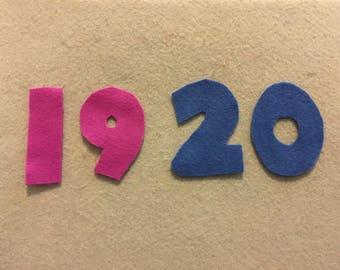 Felt Board Numbers 11-20