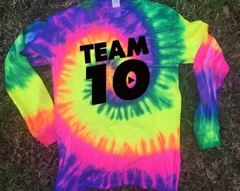 KIDS SIZE Long sleeve Official Team 10 Official we have size for kids Unisex Tie-Dye Ask a question Team 10 Jake Paul JP t best price fast