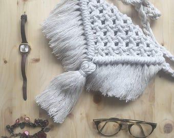 Macrame shoulder bag / / Bohemian bag / / macrame purse / / boho style handbag / / TOREPKA.