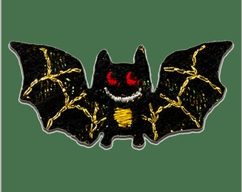 Patch/bow-bat animal-black-3.6 x 1.6 cm-by catch-the-Patch ® patch appliqué applications for ironing application patches patch