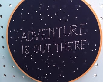 Adventure is out there constellation embroidery hoop - galaxy nursery - adventure room - adventure is out there sign