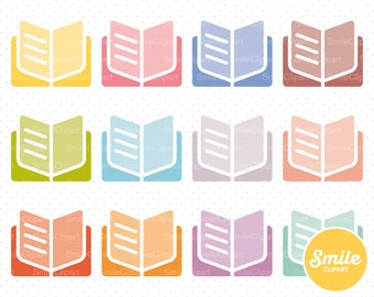 Open Book Clipart Illustration for Commercial Use | 0384