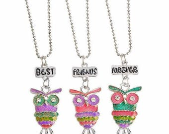 3 Piece Best Friends Forever Necklace Set