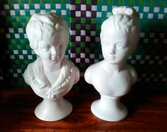 Boy And Girl Busts Etsy