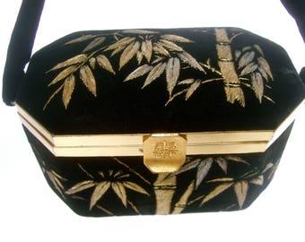 Opulent Asian Silk Embroidered Velvet Evening Bag