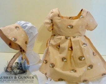 3T Vintage Inspired Dress W/Bonnet