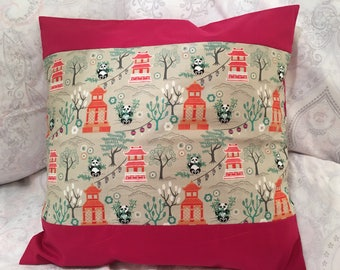 Oriental Panda Cushion