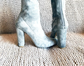 Suede Sock Ankle Boot