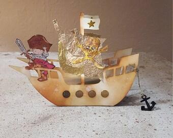 3D Pirate Birthday Card