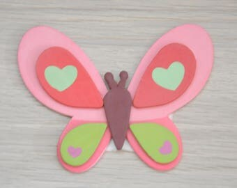 """flat wood decorated with """"Butterfly"""" pattern"""