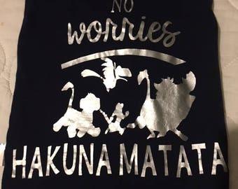 Hakuna Matata Disney inspired shirt