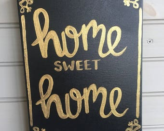 Home Sweet Home Hand painted canvas Wall Art Home Decor