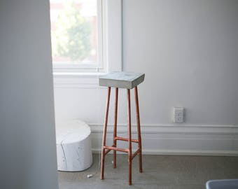 Bar stool / Minimal stool / concrete x copper stool/ home and living/ Industrial Stool