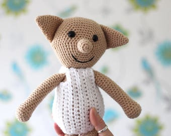 Dobby the House Elf // Harry Potter // Harry Potter Gift // Nursery Theme // Harry Potter Baby // Crochet Dobby // Dobby Doll // Handmade