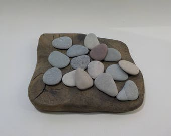 "15 Small/Thin Beach Stones 1.3-1.5""/3.4-3.9 cm Bulk Flat Beach stones - Flat Sea Stones - Decorative Beach Finds#30"