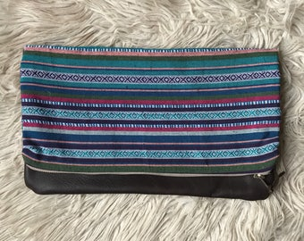 Multi-colored Aztec Clutch || Ready to Ship