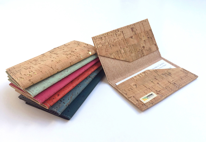 cork business card case natural cork fabric card case card