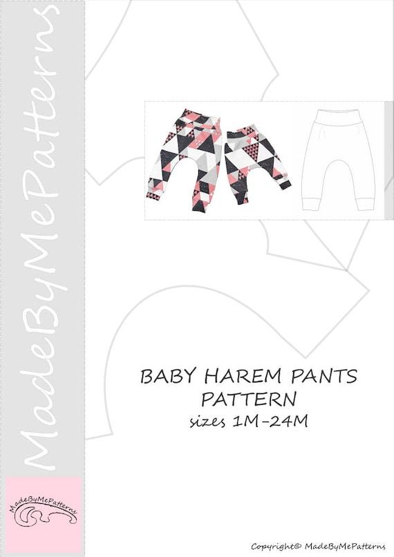 baby harem pants pattern pdf free