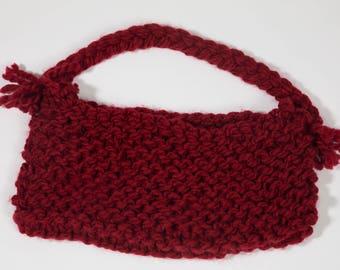 Red Knit Handbag