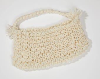 White Knit Handbag