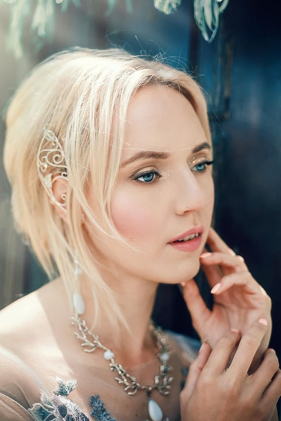 Pair of Elven Ear Cuffs. Silver Elven Ear Cuffs. Fairy Ear Cuffs. Elf Ear Cuffs. Elven Ear Wraps. Ear Cuffs. Fairy Ear Wraps. Cosplay Elf