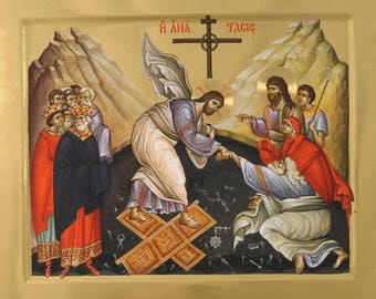 The Resurrection Of Jesus Christ (The descent into hell) Byzantine orthodox icon Воскресение Христово(сошествие во ад)