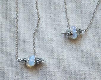 Opal Unicorn Necklace
