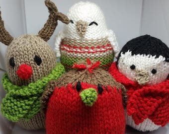 Christmas knitted animals