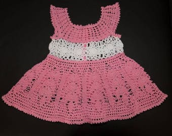 Handmade crochet baby dress size 1 year