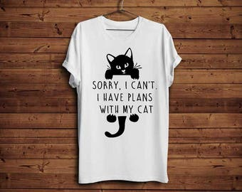 Plans with my cat tshirt