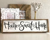 Home Sweet Home Hand Lettered Wood Sign