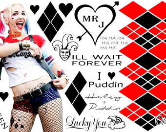 Suicide Squad - Harley Quinn Temporary Tattoo by Otaku Ink