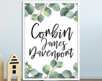 Nursery Decor / Nursery Prints / Nursery Art / Nursery Wall Art / Personalised Nursery Print / Personalised Nursery Decor / Printable