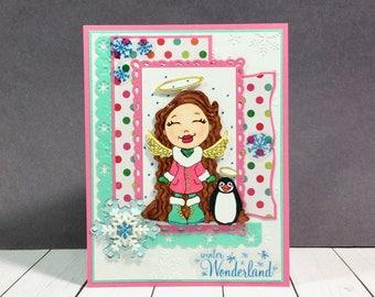 Cute Unique Christmas Card, Cute Christmas Card, Unique Christmas Card, Cute Card, Christmas Card, Penguin Christmas Card, Winter Card, Card