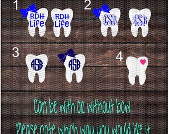 RDH, Dental Hygienist, Hygienist, Registered Dental Hygienist, RDH Life, Tooth Decal