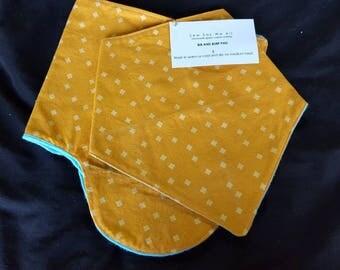 Bandana bib and burp pad set, baby gift, baby shower gift, bib and burp pad,